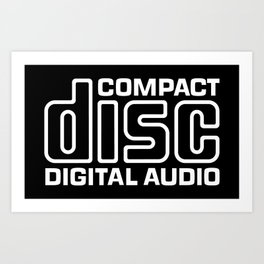 Compact Disk Digital Audio Logo - White Art Print