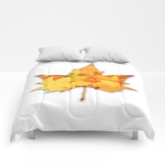 LEAVES IN LEAF Comforters