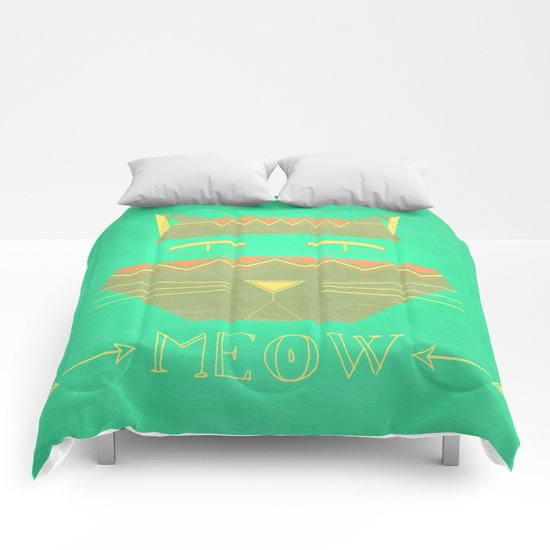 almost in cognito meow Comforters