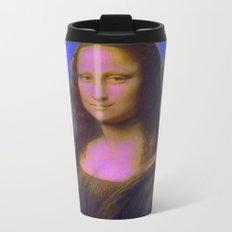 Mona Lisa's Haze (blue) Metal Travel Mug