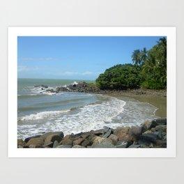 Queensland sea shore  Art Print