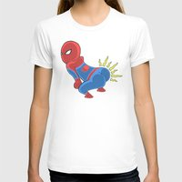 booty T-shirts featuring Spidey Booty by Pengew