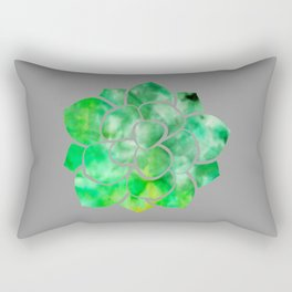 Succulent - Grey with Green Ice Dye Rectangular Pillow