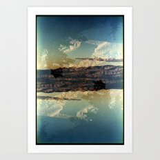 Landscapes c13 (35mm Double Exposure)  Art Print