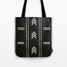 Minimalist mud cloth black Tote Bag