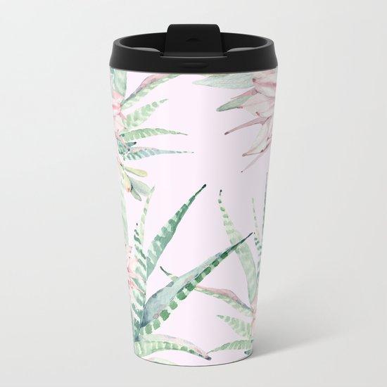 Cactus Pattern 2 Pink #society6 #buyart Metal Travel Mug