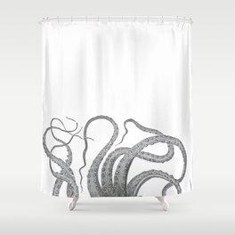 Vintage kraken octopus tentacles nautical antique sea creature steampunk graphic print Shower Curtain