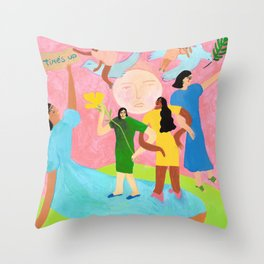 TIME'S UP by Ana Leovy Throw Pillow