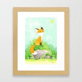 Petit renard Framed Art Print