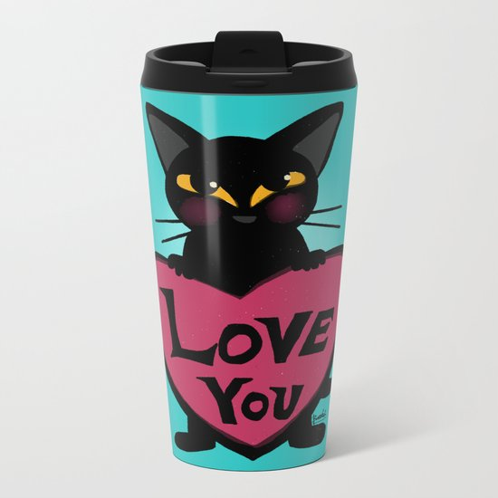 Whim with his heart Metal Travel Mug