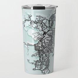 Noumea, New Caledonia, White, City, Map Travel Mug