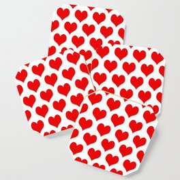 Holidaze Love Hearts Red Coaster