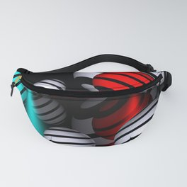 3 colors and 2 dimensions Fanny Pack