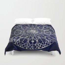 Rosette Window - Midnight Blue Duvet Cover