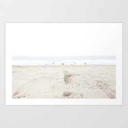 Ocean Beach in White 2 Art Print