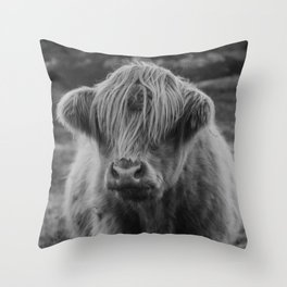 Highland cow III Throw Pillow