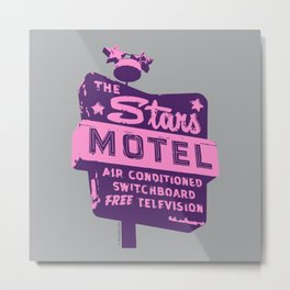 Seeing Stars ... Motel ... (Purple/Pink/Grey) Metal Print