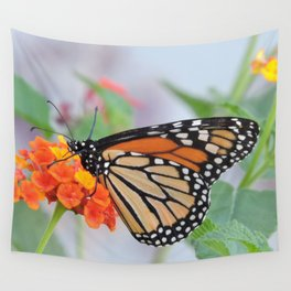 The Monarch Has An Angle Wall Tapestry