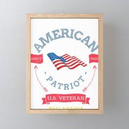West Virginia US Veteran and Patriot  Framed Mini Art Print