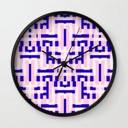 Pink + Blue Haze Wall Clock