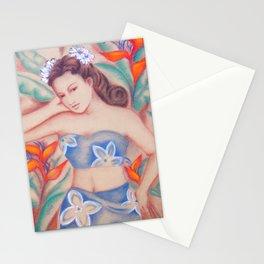 1940's Vintage Hawaiian Beauty Stationery Cards