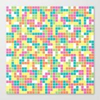 tetris Canvas Prints featuring Tetris by Alisa Galitsyna
