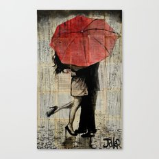 the red umbrella Canvas Print