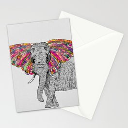Bella The Happy Butterphant Stationery Cards