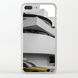 New York, Solomon R Guggenheim Museum, Frank Lloyd Wright, NYC Taxi Clear iPhone Case