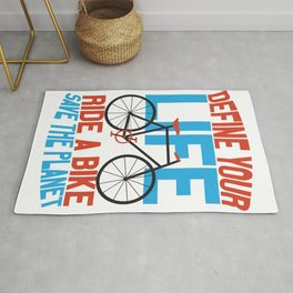 Green Environment Ride a Bike Save the Planet Rug