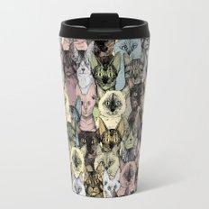 just cats retro Travel Mug