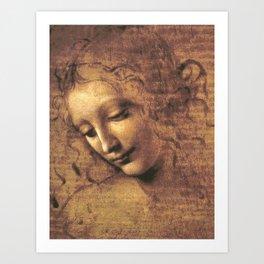 Head of a Woman - Leonardo Da Vinci Art Print