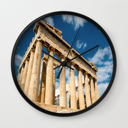 Parthenon Greece Wall Clock