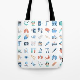 CUTE MEDICINE / SCIENCE / DOCTOR PATTERN Tote Bag