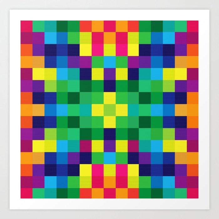 Colorful Geometric Background II Art Print
