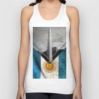 argentina Tank Tops featuring Flags - Argentina by Ale Ibanez