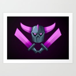 Clash of Clans PEKKA the Destroyer Art Print