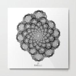 GEOMETRIC NATURE: BROCCOLI w/b Metal Print