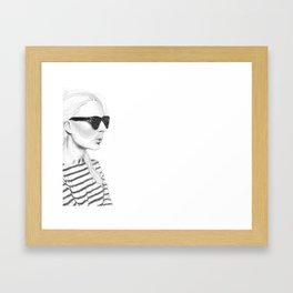 Glasses & Stripes Framed Art Print