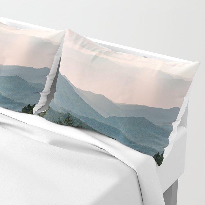 Smoky Mountain Pastel Sunset Kissenbezug
