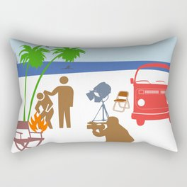 Action Movie Rectangular Pillow