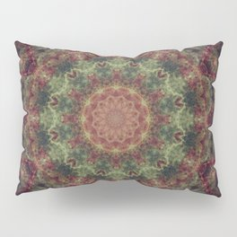 Green Mandala Pillow Sham