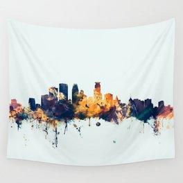 Minneapolis Minnesota Skyline Wall Tapestry