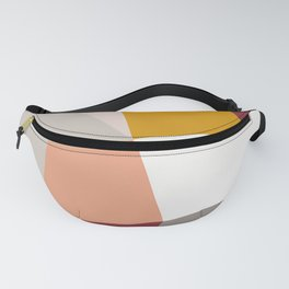 Abstract Geometric 27 Red Fanny Pack