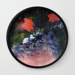 Poppy - Mixed Media Acrylic Abstract Modern Art, 2009 Wall Clock