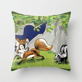 Spunky Little Skunk Throw Pillow