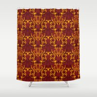 skyrim Shower Curtains featuring Celtic Loop Pattern by Astrablink7