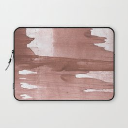 Rosy brown streaked wash drawing Laptop Sleeve