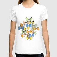 bows T-shirts featuring More Bows & Butterflies by Romina M.