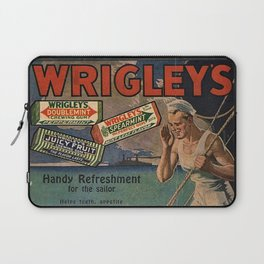 Vintage 1918 Wrigley's Chewing Gum Advertisement with sailors Laptop Sleeve